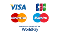 Payments powered by WorldPay - Visa, JCB, MasterCard and Maestro accepted.